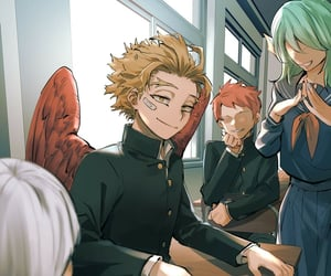 anime, hawks, and boku no hero academia image