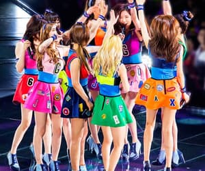color, snsd, and Sunny image