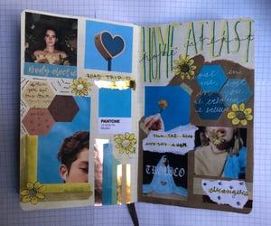 angela, art journal, and washi tape image