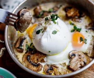 breakfast, brunch, and mushroom image