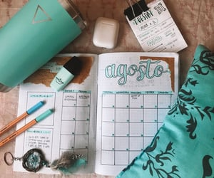 aesthetic, August, and calendar image