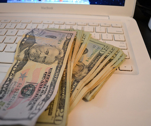 money, computer, and photography image