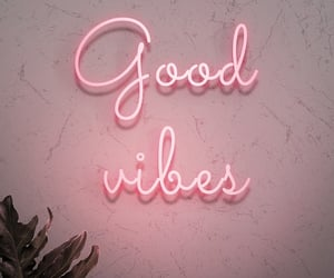 pink, neon, and good vibes image