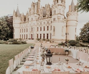 castle, white, and food image