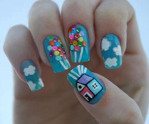 nails, up, and balloons image