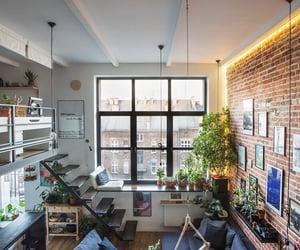 apartment, blue, and bricks image