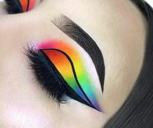 colorful, fashion, and eyeliner image