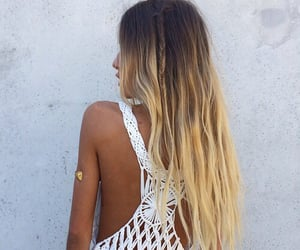 blonde, hairs, and hairstyle image