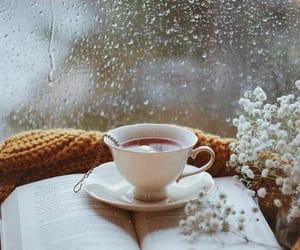book, tea, and rain image