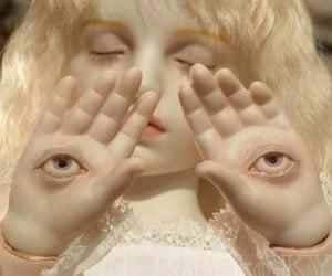 doll, creepy, and eyes image
