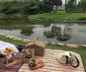 aesthetic, theme, and picnic image
