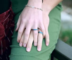 hands, accessories, and couple image