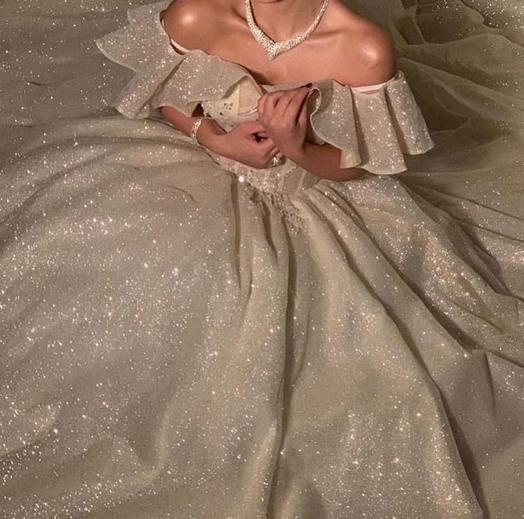 ball gown, elegant, and glitter image