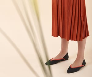 ballet flats, knit skirt, and mod image