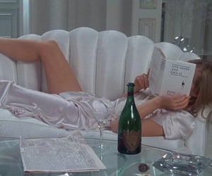 book, champagne, and mood image