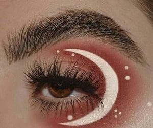 makeup, moon, and beauty image