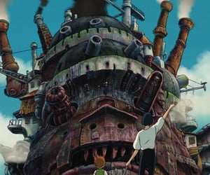 movie, studio ghibli, and howls moving castle image