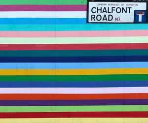 colors, mural, and stripes image