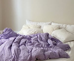 purple, aesthetic, and bed image
