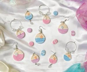 beach, earrings, and handmade image