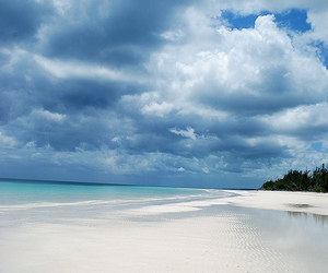 beach, clouds, and paradise image