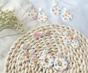daisies, earring, and earrings image