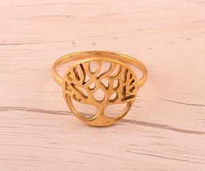 bridal jewelry, brass ring, and nature jewelry image