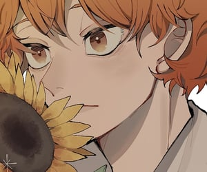anime, artwork, and orange hair image