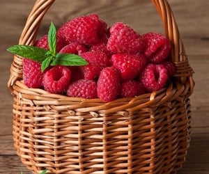 raspberry, fruit, and berries image