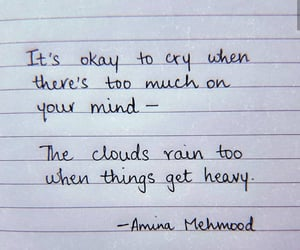 cloud, cry, and quote image
