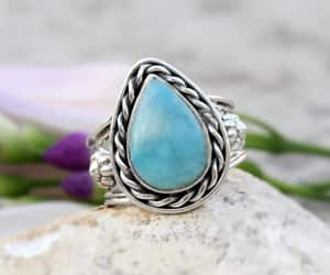 etsy, stone ring, and silver gemstone ring image