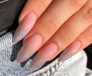 bling bling, glitter, and nail art image