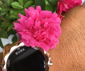 flowers, watch, and eura image