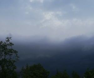cloudy, rain, and raining image