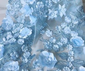 aesthetic, blue, and flowers image