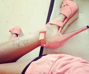 like, pink, and shoes image