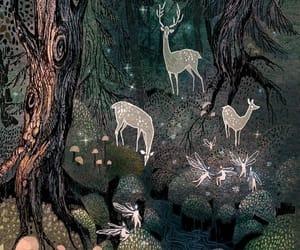 Fairies, art, and deer image