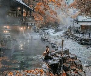 japan, gunma, and onsen tarakagawa image