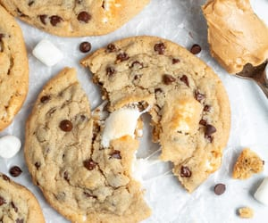 baking, Cookies, and chocolate chip cookies image