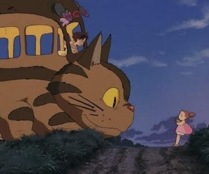 aesthetic, catbus, and ghibli image
