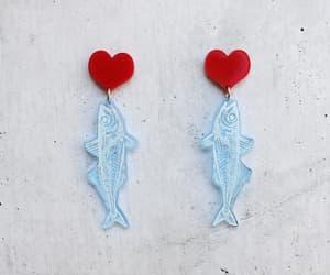 etsy, ocean earrings, and fish dangle earrings image