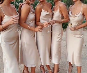 bridesmaid, dress, and fashion image