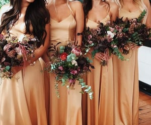 bridesmaid, bridesmaid dress, and long bridesmaid dress image