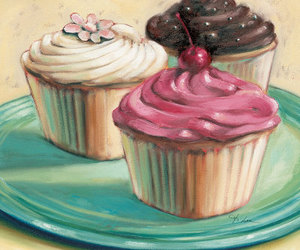 cupcake, illustration, and pink image