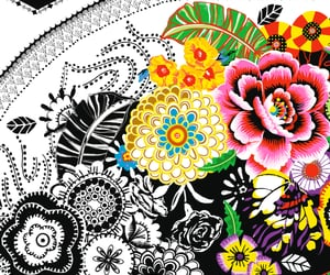art, background, and flowers image