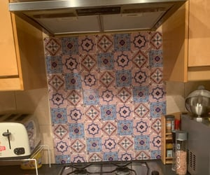 for kitchen, floor tile, and seam sticker image
