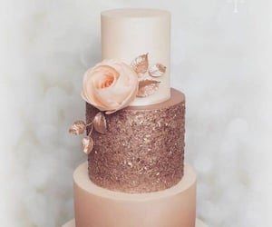 aesthetic, cake, and gold image