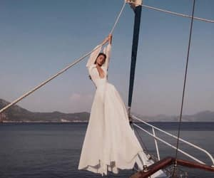 dress, white, and boat image