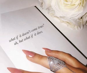 quotes, ring, and nails image