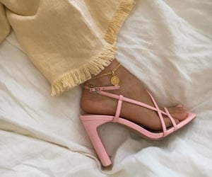 gold jewelry, high heels, and ankle bracelet image